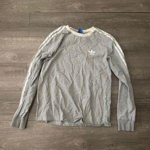 Adidas Original Long Sleeves Size M Gray